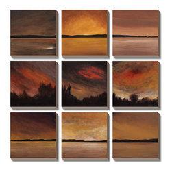 Artcom - Horizontal Lines by Earl Kaminsky - Horizontal Lines by Earl Kaminsky is a Canvas Art Set.