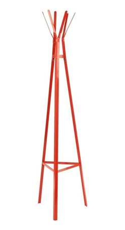 Southern Enterprises - Heights Hall Tree - Orange - Embrace the exciting color and fresh design of this metal hall tree and add a new vibrancy to your home. The contemporary design and gorgeous orange finish make this hall tree a great addition for any home. Clean, modern lines and simple design merge in this playful hall tree. The triangular base tapers up to the top, creating a pyramid. The shape provides stability and design, while the hanging hooks offer a charming storage solution in a pretty package. This metal hall tree is perfect for homes with contemporary and modern decor. Add this hall tree to your entryway, hall, or any spot you hang your hat!