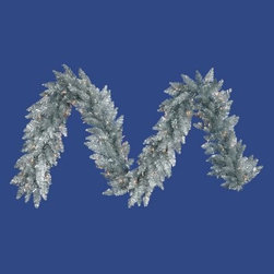 Vickerman 9 ft. Silver Pre-Lit Garland - Clear Lights - The Vickerman 9 ft. Silver Pre-Lit Garland - Clear Lights gives you the sparkle of silver yet never looks overdone. This garland is nine feet long, which means you have plenty of length to drape or hang nearly anywhere. Durable PVC construction ensures lasting beauty. This silver garland comes pre-lit with clear lights for extra sparkle and a warm glow. About VickermanThis product is proudly made by Vickerman, a leader in high quality holiday decor. Founded in 1940, the Vickerman Company has established itself as an innovative company dedicated to exceeding the expectations of their customers. With a wide variety of remarkably realistic looking foliage, greenery and beautiful trees, Vickerman is a name you can trust for helping you create beloved holiday memories year after year.