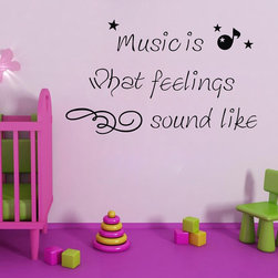 ColorfulHall Co., LTD - Kids Wall Decals Music is What Feelings Sounds Like Kids Wall Art - Kids Wall Decals Music is What Feelings Sounds Like Kids Wall Art