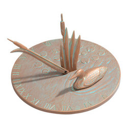 Whitehall Products LLC - Loon Sundial - Copper Verdi - Features:
