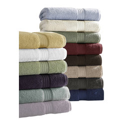 Luxor Linens - Bliss Luxury Towels, 6-Piece, Linen - Thirsty and absorbent, these 100% Egyptian cotton luxury towels are perfect for everyday use. The superior softness and extra absorbency make these the go-to towel each time you step out of the bath. Available in 13 rich, vibrant colors, you are sure to find some to match your mood.
