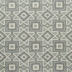 """Momeni - Momeni Geo GEO16 7'6"""" x 9'6"""" Grey Rug - Inspired by its surroundings, Geo is a casual collection of hand-hooked rugs in bold floral and ethnic patterns. Made of 100% polyester."""