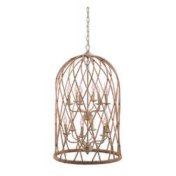 Zuo Modern - Zuo Modern Coal Ceiling Lamp in Twine & Beige with Rust - Ceiling Lamp in Twine & Beige with Rust belongs to Coal Collection by Zuo Modern Lamp (1)