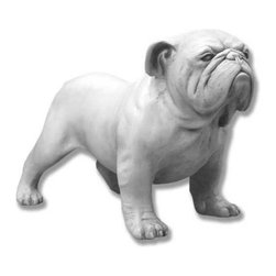 Orlandi Statuary - Guardian Bulldog Garden Statue Multicolor - FBD225BULLDOG - Shop for Statues and Sculptures from Hayneedle.com! The Guardian Bulldog Garden Statue is a natural guardian proud and handsome. Crafted of all-weather fiberglass construction is as smooth and beautiful as genuine marble but far easier to handle and won't shatter or crack.About Orlandi StatuaryBorn in 1911 when Egisto Orlandi traveled from Lucca Italy to Chicago Illinois Orlandi Statuary quickly set the standard for excellence in their industry. Egisto took great pride in his craft and reputation and which is why artists interior designers and museums relied upon the careful details and impeccable quality he demanded. Over the years they've evolved into a company supplying more than statuary. Orlandi's many collections today include fiber stone for the garden religious statuary fountains columns and pedestals. Their factory and showroom are still proudly located in Chicago where after 100 years they remain an industry icon.