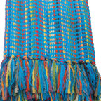 Bedford Cottage - Fiesta Throw, Azure - Our colorful, Mediterranean inspired Fiesta throw is festively decorative.  Jewel tone brights shine from each of the three colorways, making Fiesta the perfect dash of color for any setting!