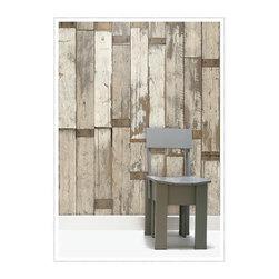 Scrapwood Wallpaper-02 - Piet Hein Eek - Love the look of rustic repurposed planks but not up for the remodeling task? Consider this beautiful wallboard wallpaper by Piet Hein Eek.