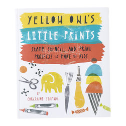 Yellow Owl Workshop - Yellow Owl's Little Prints Book - Christine's new book teaches readers a wide variety of techniques-stenciling, printing, image transfer, and stamping-to create personalized toys, decorations, wall art, accessories, and keepsakes that kids will love and parents will cherish. As a new mom herself, Christine felt it was essential to offer projects that don't require a lot of equipment or time to achieve, but still feel special. Readers will learn to carve a personalized stamp that can be used on stationery, baby blankets, tote bags or bed linens; paint a rug to perfectly match a child's bedroom decor; make a keepsake box that will become a family heirloom and more. The book also features original, exclusive templates using Christine's artistic, iconic designs, and the same motifs can be used-for both adults and children!-for party invitations, gift wrap, as a stencil for a blanket or an iron-on t-shirt decal-the possibilities are almost endless!
