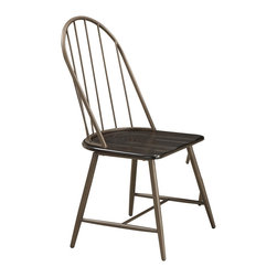 Coaster - Jade Side Chair - Set of 4 - At an incredible value, this dining collection is crafted of metal and ash veneer wood seats and table top. A welded metal frame means durability! The matching windsor chairs provide comfort for daily use. The collection's wood finish has a special wire brushed surface to create a reclaimed wood look.