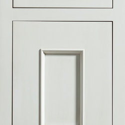 """Dura Supreme Cabinetry - Dura Supreme Cabinetry Middleton Inset Cabinet Door Style - Dura Supreme Cabinetry """"Middleton"""" inset cabinet door style in Paintable shown with Dura Supreme's """"White"""" paint with """"Platinum"""" Glaze finish with concealed inset hinge. (With non-beaded frame)"""