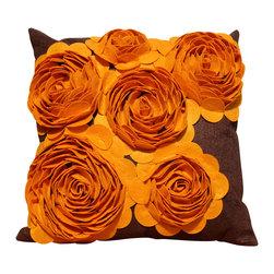 Auburn Design Studio - Throw Pillow - Pillow Cover is made of a Felt Fabric.