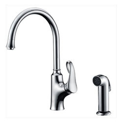 Dawn - Dawn AB06 3296C Single-Lever Kitchen Faucet w/Spray Chrome - Dawn AB063296C Single-lever kitchen faucet with side-spray, Chrome