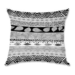 DiaNoche Designs - Pillow Woven Poplin from DiaNoche Designs by Pom Graphic Design Tribal and Natur - Toss this decorative pillow on any bed, sofa or chair, and add personality to your chic and stylish decor. Lay your head against your new art and relax! Made of woven Poly-Poplin.  Includes a cushy supportive pillow insert, zipped inside. Dye Sublimation printing adheres the ink to the material for long life and durability. Double Sided Print, Machine Washable, Product may vary slightly from image.