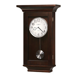 Howard Miller - Howard Miller Dual Chime Black Coffee Pendulum Wall Clocks | GERRIT - 625379 Gerrit
