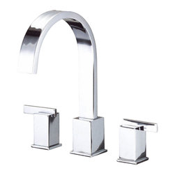 Danze - Danze D302044T Chrome Roman Tub Trim Kit Two Handle - Danze D302044T Roman Tub Faucet Trim Only is part of the Sirius Bath collection.  D302044T has a Chrome finish.  D302044T Roman Tub Trim requires Danze D210000BT or D215000BT rough-in valve to make this faucet complete.  D302044T Two lever handles meets all requirements of ADA.
