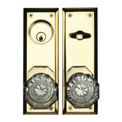 """Renovators Supply - Door Locks Front Door Bright Solid Brass Old Town 2 3/8'' backset 