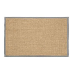 Color-Bound Sisal Rug, 9 x 12', Metal Gray - Meticulously crafted by hand, our popular rug is eco-friendly, durable and perfect for high-traffic areas. Handcrafted of natural sisal by artisan rug makers. Durable fiber is ideal for high-traffic areas. Rug swatches, below, are available for $25 each. We will provide a merchandise refund for rug swatches if they're returned within 30 days. Use with our Rug Pad (sold separately). Select items are Catalog / Internet Only. Imported.