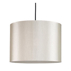 Meridian Large Pendant Lamp, Pebble Silk Glow