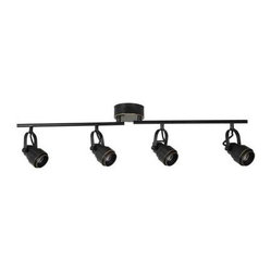 Eyarn 4-Light LED Oil Rubbed Bronze Cinema Track Lighting 18815-000