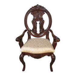 MBW Furniture - Pair of 2 Mahogany Victorian Round Back Dining Arm Chairs (2) - This product is finely constructed from top grade kiln-dried solid mahogany. Its superb quality will add a touch of elegance to your home.