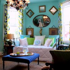 Contemporary Family Room by Sara Bates