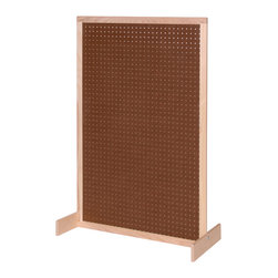 Steffywood - Steffywood Home Office Classroom Pegboard Room Divider - Unit has pegboard panel.  Frame is constructed of solid hardwood.  Feet can be mounted for either vertical or horizontal position.