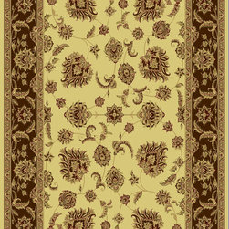 """Dynamic Rugs - Dynamic Rugs Legacy 58020-160 (Cream Brown) 6'7"""" x 9'6"""" Rug - Legacy is yet another superb collection with magnificent styling and priced to fit any budget. Legacy is densely Woven on wilton loom with high quality heat-set polypropylene that is anti-static with highest color fastness."""