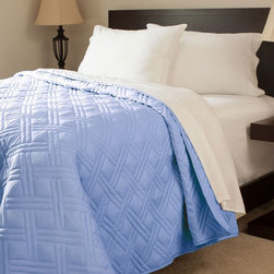 Lavish Home - Lavish Home Solid Color Bed Quilt - 66-40-FQ-B - Shop for Quilts from Hayneedle.com! Give your bedroom a much needed boost of color with the Lavish Home Solid Color Bed Quilt. This lightweight yet warm quilt is crafted of soft durable polyester fabric and polyester fill. It features a slight twist on a traditional quilt design and comes in your choice of solid color to complete the look of your room. Available in an array of size options to best suit your needs.Quilt Dimensions:Twin: 65 x 86 in.Full/Queen: 86 x 86 in.King: 102 x 86 in.About Trademark Global Inc.Located in Lorain Ohio Trademark Global offers a vast selection of items for your home and lifestyle. Whether you need automotive products collectibles electronics general merchandise home and garden items home decor housewares outdoor supplies sporting goods tools or toys Trademark Global has it at a price you can afford. Decor items and so much more are the hallmark of this company.