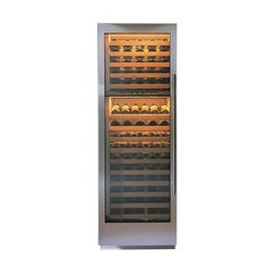 "Sub-Zero 27"" Wine Storage - Offers eight shelves of wine storage above with two refrigerated drawers underneath."