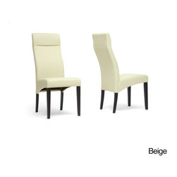 Baxton Studio - Deborah Beige Linen Modern Dining Chairs (Set of 2) - These upholstered modern dining chairs will instantly bring character and charm to your home. The brown wooden legs are equipped with rubber feet to protect the floor from damage. Sturdy backrests and foam cushions keep you comfortable.