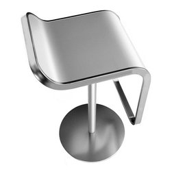 LaPalma - Lem Piston Barstool Stainless Steel - Our authentic Lem stool is designed by Shin and Tomoko Azumi, and Made in Italy by LaPalma. The popular LEM piston stool effortlessly blends sculptured form with convenient swivel and height adjustable functions. Its highly original shape offers an uncluttered atmosphere when several stools are grouped together.