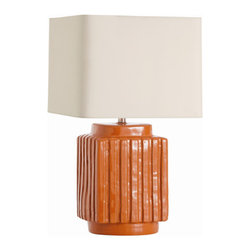 "Arteriors - Arteriors Home - Artesia Table Lamp - 17052-941 - Arteriors Home - Artesia Table Lamp - 17052-941 Features: Artesia Collection Table LampTerra cotta FinishClear and Silver ColorCloud cream , Cloud cream lining and Diffuser Shade colorHand crafted and variations in finish occur3-Way rotary Switch type. At socket Switch location2-Prong polarized Plug. UL and CUL listed. Some Assembly Required. Dimensions: 15.5"" W X 15.5"" D X 26.5"" H"