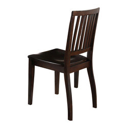 """Steve Silver Furniture - Steve Silver Candice Slat Back Side Chair in Dark Espresso (Set of 2) - The Candice collection offers country-style simplicity, transforming any dining area into a charming sanctuary. The dark espresso Candice side chair features a high back with vertical slats and a shaped wooden seat for comfort. The chair measures 18""""W x 22""""D x 36""""H."""