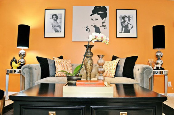 Turning a blah living and dining room into a vintage glam - Turning a living room into a dining room ...