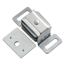 Hickory Hardware - Cadmium Double Magnetic Catch - Functionalism is the principal that design is based on the purpose of that piece.  Hinges, hooks, catches, drawer slides and screws.  All designed for a specific purpose and necessary in every home.