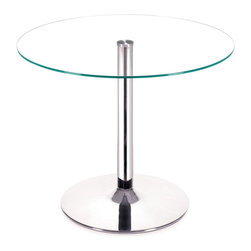 Zuo Modern - Zuo Modern Galaxy Modern Dining Table X-151201 - Your classic round dining table gets a modern update with a clear tempered glass top and a chromed steel tube center and base. The Galaxy dining table brings modern class to any eating area: kitchen, dining, or break rooms.