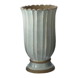 Lazy Susan - Ocean Mist Ceramic Planter, Large - -Handcrafted