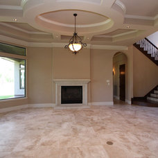 Mediterranean Living Room by Kevin Young Designer, Inc.