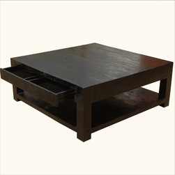 Mission Hardwood Square Espresso Coffee Table -