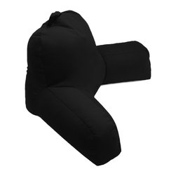 Living Healthy Products - Porter Bedrest - Micro Suede Bed Rest Lounger, Black - Black Porter Bed rest provides a functional pillow that allows anyone to lie in bed and read, work or just watch TV comfortably. This bed rest has a handsome high low variegated plush that looks great and wears well.