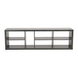 Eurostyle - Ryn Shelving Unit-Gray - High gloss lacquer on MDF