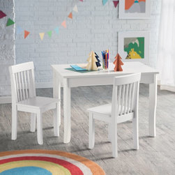 Lipper - Lipper Mystic Table and Chair Set - White - 544W - Shop for Childrens Table and Chair Sets from Hayneedle.com! Give them their own space to create with the Lipper Mystic Table and Chair Set - White. This table and two chair set is perfect for little ones who like to draw write color or do anything else creative. Crafted of super-sturdy wood and engineered wood this classic set is finished in crisp white making it a beautiful addition to any playroom. After they've completed their masterpieces simply clean the table with a damp cloth and mild soap and water. This set is sure to be a favorite for years to come. About Lipper InternationalLipper International provides exceptionally valued kitchen home & office organizers including the Soho Spice Collection; single-serve coffee pod organizers; kitchen pantryware cutting boards and tools; serving & entertaining accessories; and children's furniture and toy chests. Lipper uses the finest quality materials including stainless steel bamboo acacia wood chrome- and powder-coated metals and other fine-quality hardwoods. Known for product functionality as well as beauty and quality craftsmanship Lipper International combines quality style service and price into every product and collection it offers.