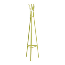 Holly & Martin - Heights Hall Tree, Lime Green - Bring a creative, modern sense of style to your home with this metal hall tree. The contemporary design and bright blue finish make this hall tree a delightful, playful addition for any home.