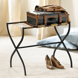 Ballard Designs - Gaspar Luggage Rack - A luggage rack would be greeted with open arms by any guest. And when not in use, it shrinks to a slim, manageable size for storing.