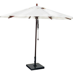 Greencorner - 11' Octagon Mahogany Umbrella, Natural - 11' Octagon