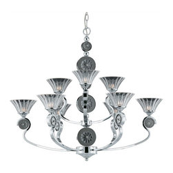 Triarch International - Triarch International 39414 Medallion Chandelier - Triarch International 39414 Medallion Chandelier with 9 LightsCaptivate your friends and family with this unique and trendy chandelier. This chandelier is a simple way to add sophistication and refinement to your decor. Triarch International 39414 Features: