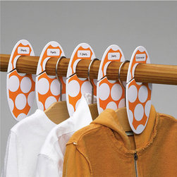 Closet Dividers Set, Big Dots - Clothes are easy to find with these closet organizers. Arrange clothes by age or type.