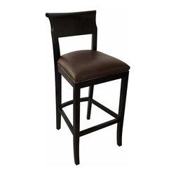 NOIR - NOIR Furniture - York Barstool in Hand Rubbed Black - GSTOOL206HBL - Features: