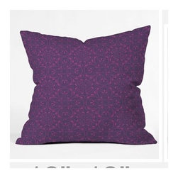 "DENY Designs - Khristian A Howell Provencal Lavender 1 Throw Pillow - Wanna transform a serious room into a fun, inviting space? Looking to complete a room full of solids with a unique print? Need to add a pop of color to your dull, lackluster space? Accomplish all of the above with one simple, yet powerful home accessory we like to call the DENY Throw Pillow! Features: -Khristian A Howell collection. -Top and back color: Print. -Material: Woven polyester. -Sealed closure. -Spot treatment with mild detergent. -Made in the USA. -Closure: Concealed zipper with bun insert. -Small dimensions: 16"" H x 16"" W x 4"" D, 3 lbs. -Medium dimensions: 18"" H x 18"" W x 5"" D, 3 lbs. -Large dimensions: 20"" H x 20"" W x 6"" D, 3 lbs."
