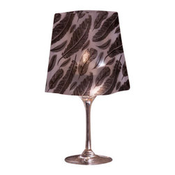Modgy - Lumizu Wine Glass Shade LaPlume - Creating instant elegance is easy with LUMIZU Wine Glass Shades. These wine glass lamp shades are crafted from durable, frosted plastic and slide easily over water-filled wine glasses. No assembly required. LUMIZU Wine Glass Shades fit over any standard